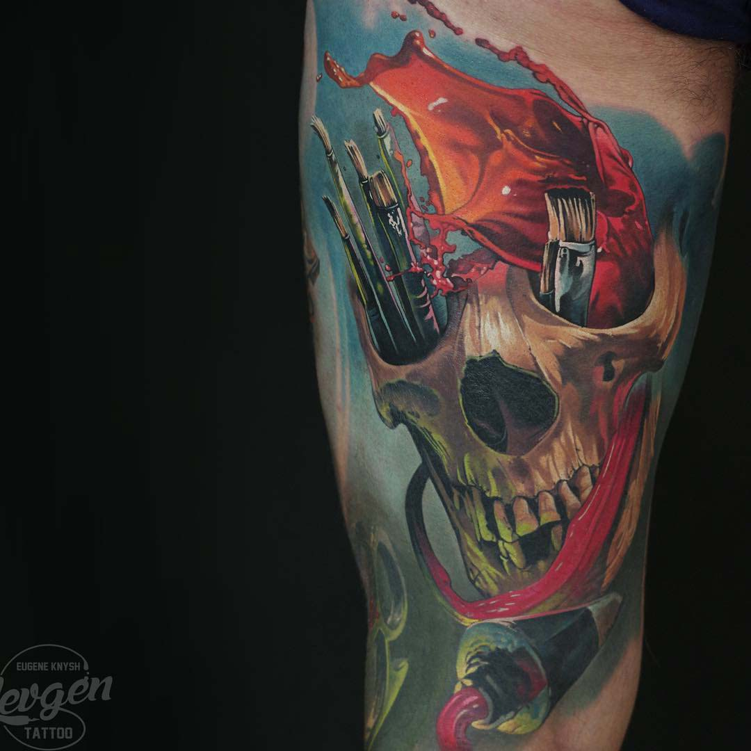skull tattoo painter