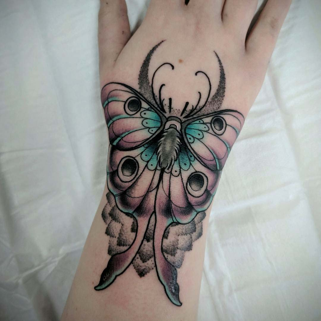 wrist tattoo butterfly