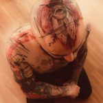 Bug Eye Tattoo on Head