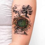 House of Hobbit Tattoo on Arm
