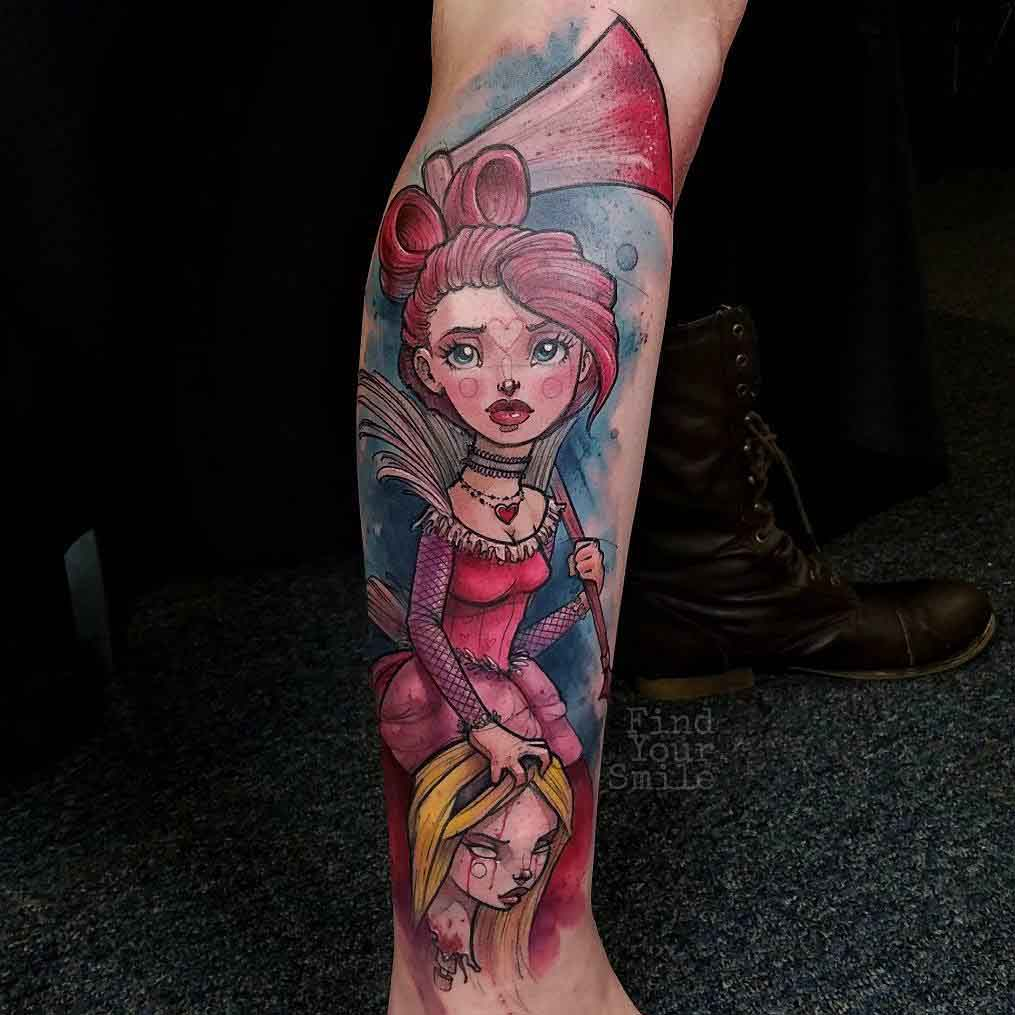 alice red queen tattoo