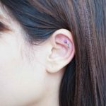 Tulip Tattoo on Ear