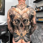 Full Back Big Skull Tattoo