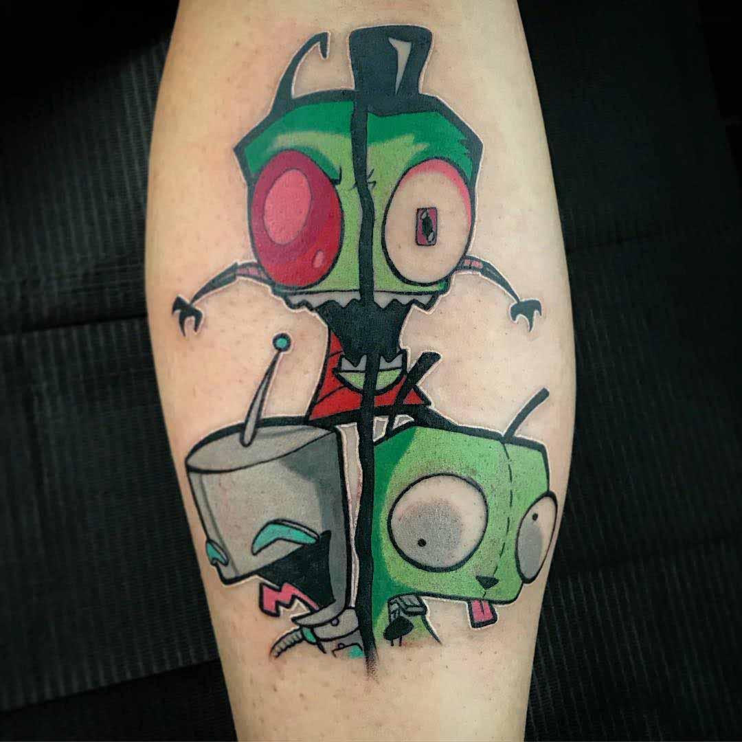 Tattoo zim invader