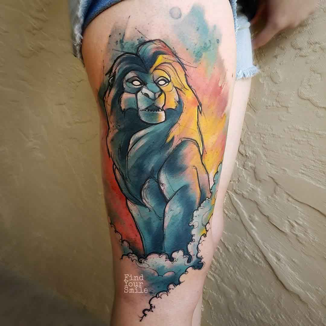 lion king tattoo mufasa