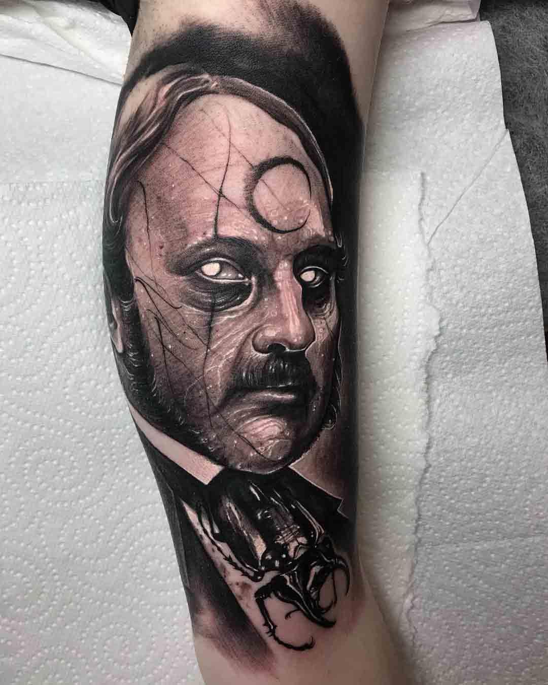 arm tattoo black and grey