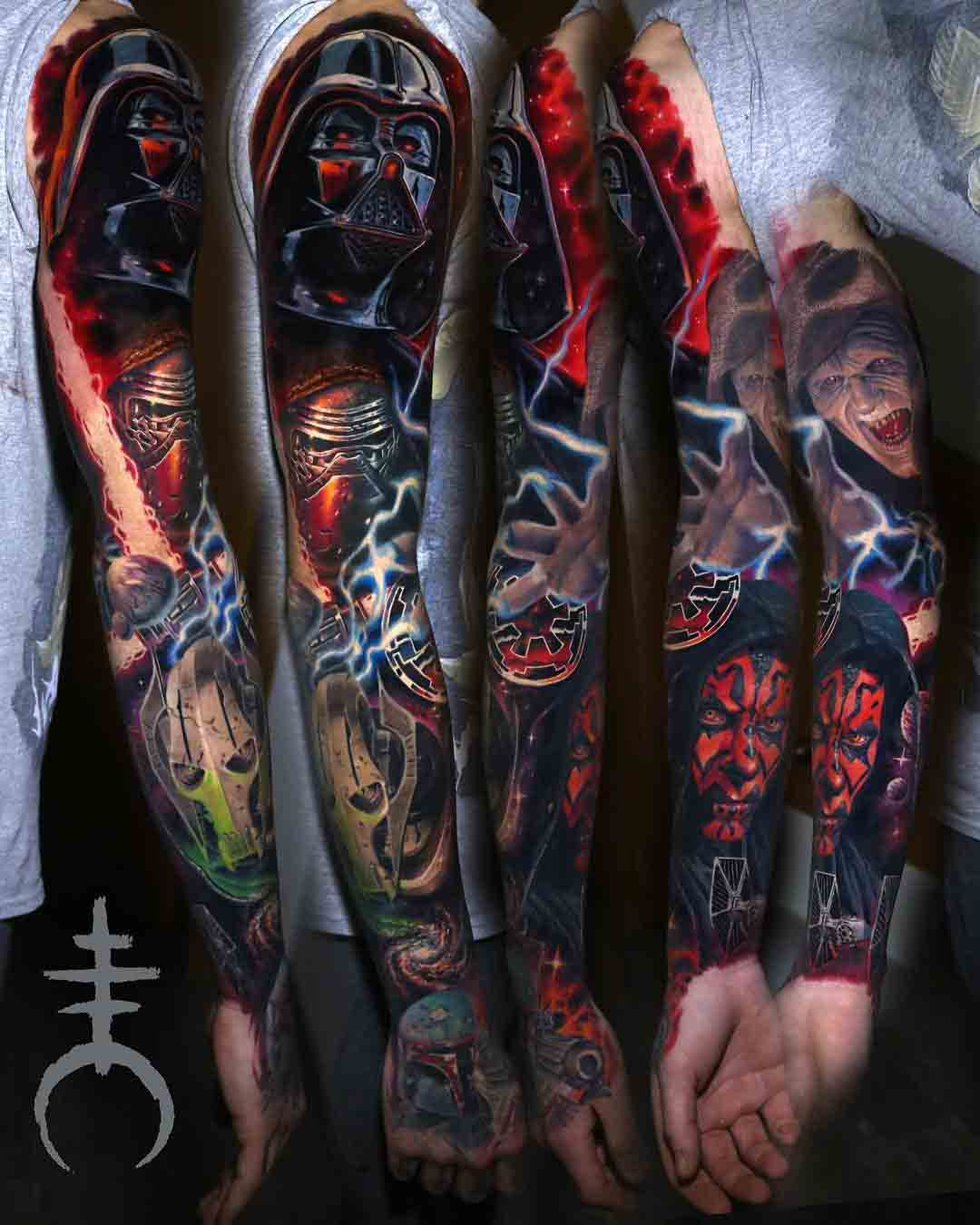 star wars tattoo sleeve