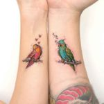 Love Bird Tattoos for Couples