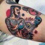 Old School Boxer Tattoo