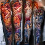 Seven Virtues Tattoo Sleeve