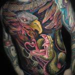 Snake Eagle Tattoo