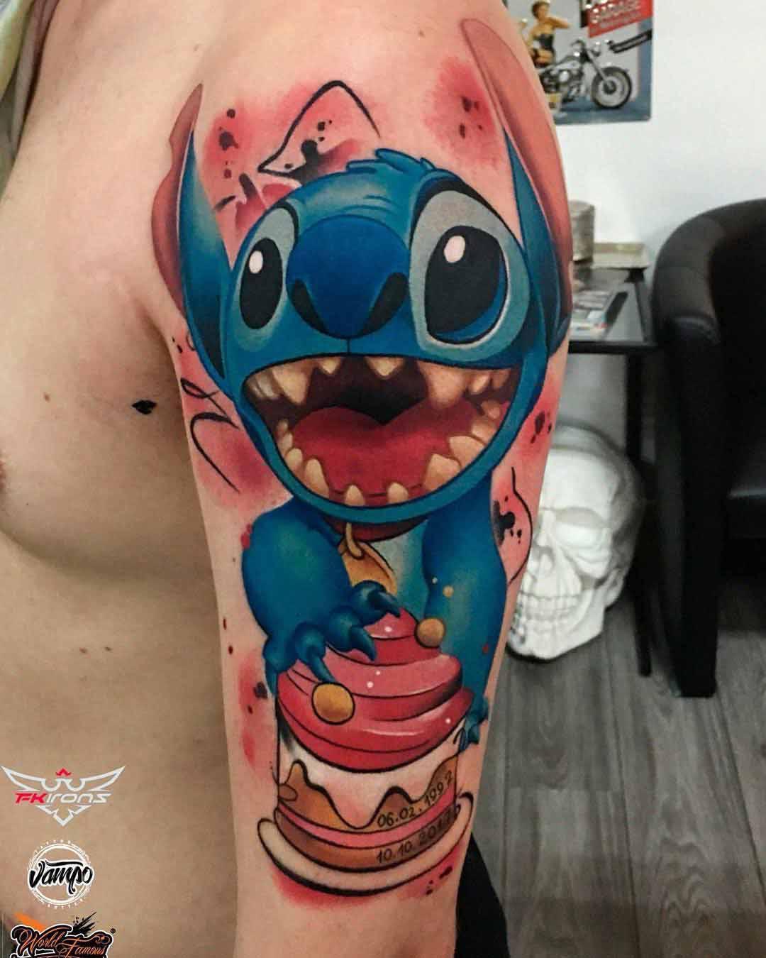 shoulder tattoo Stitch