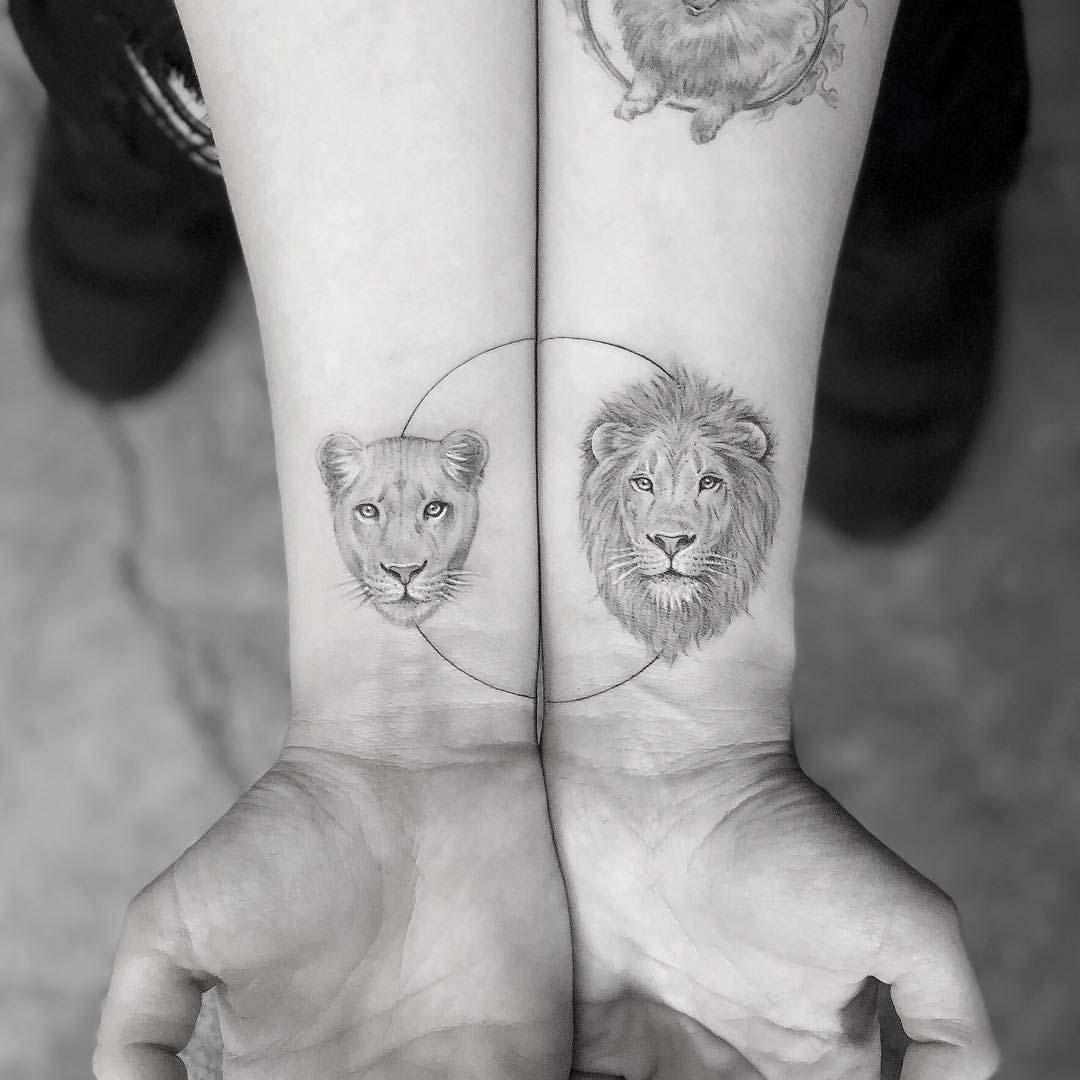 lion tattoos on wrist