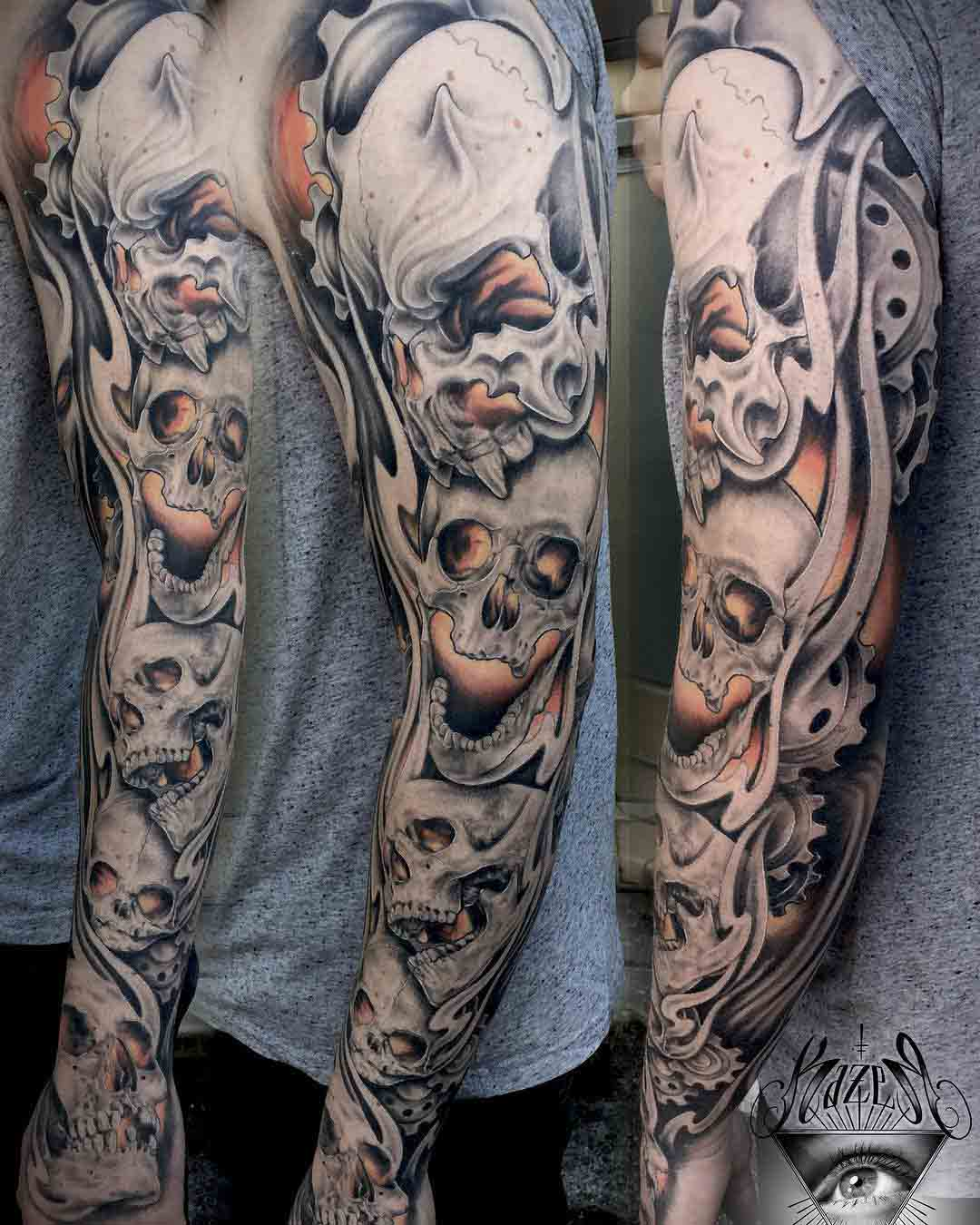 tattoo sleeve skulls