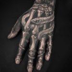Arm Skeleton Tattoo Snake