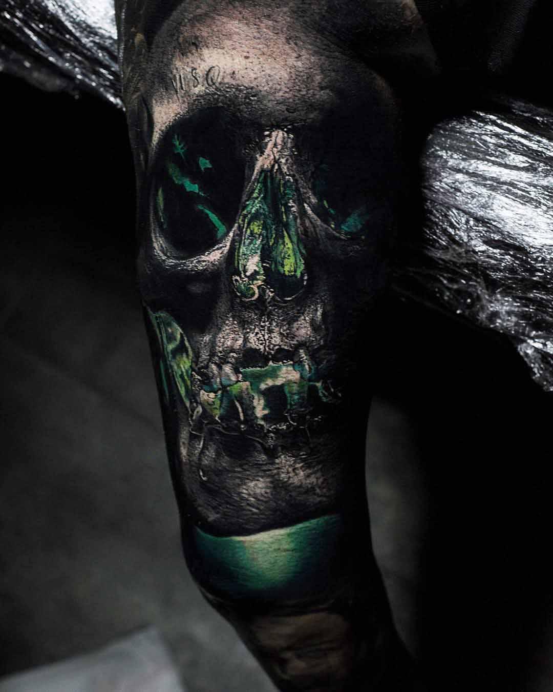 skull tattoo green lantern