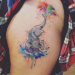 Happy Elephant Tattoo