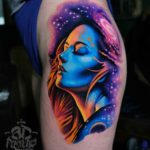 Hip Tattoo Universe Goddess