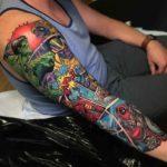 Marvel Comic Sleeve Tattoo