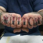 American Tattoo on Fingers