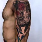 Big Rhino Tattoo on Shoulder