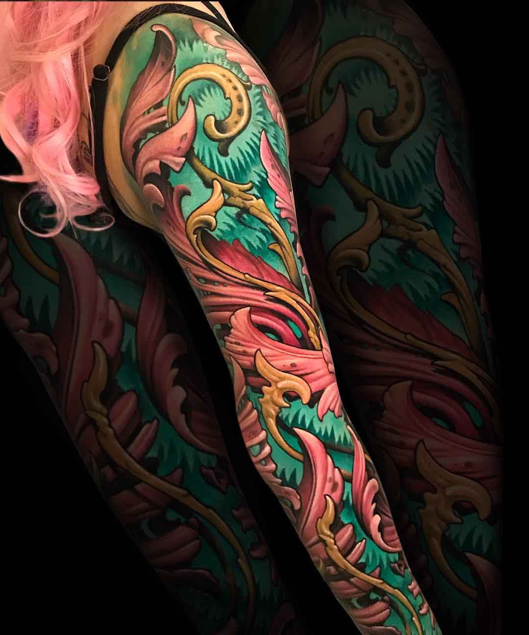 organic tattoo sleeve