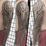 Full Polynesian Tattoo Sleeve