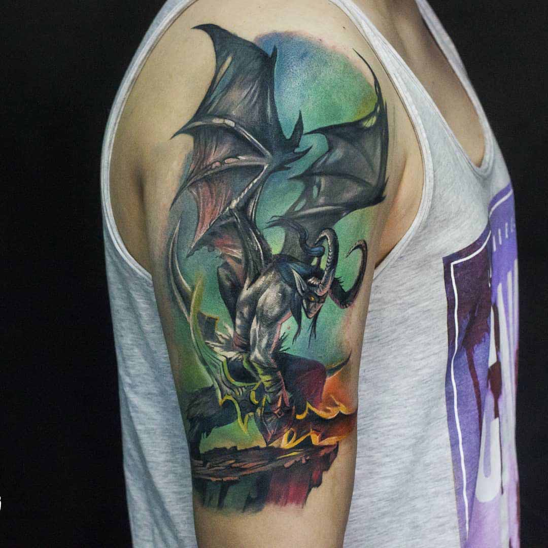 world of warcraft tattoo illdan