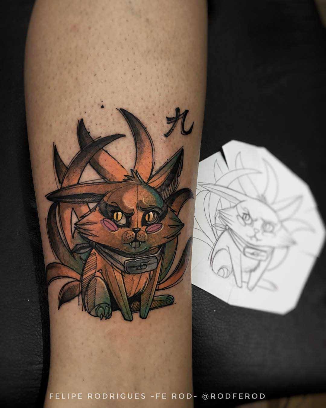 arm tattoo cat naruto