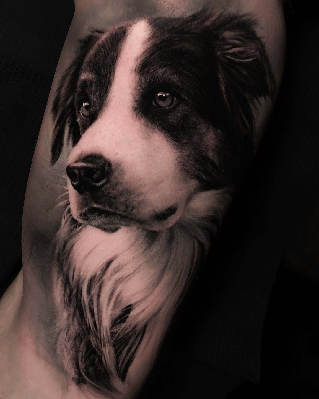 dog portrait tattoo realism