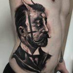 Victorian Demon Guy Tattoo