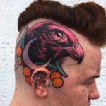 Side of Head Tattoo Eagle