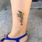 Small Bird Tattoo on Ankle