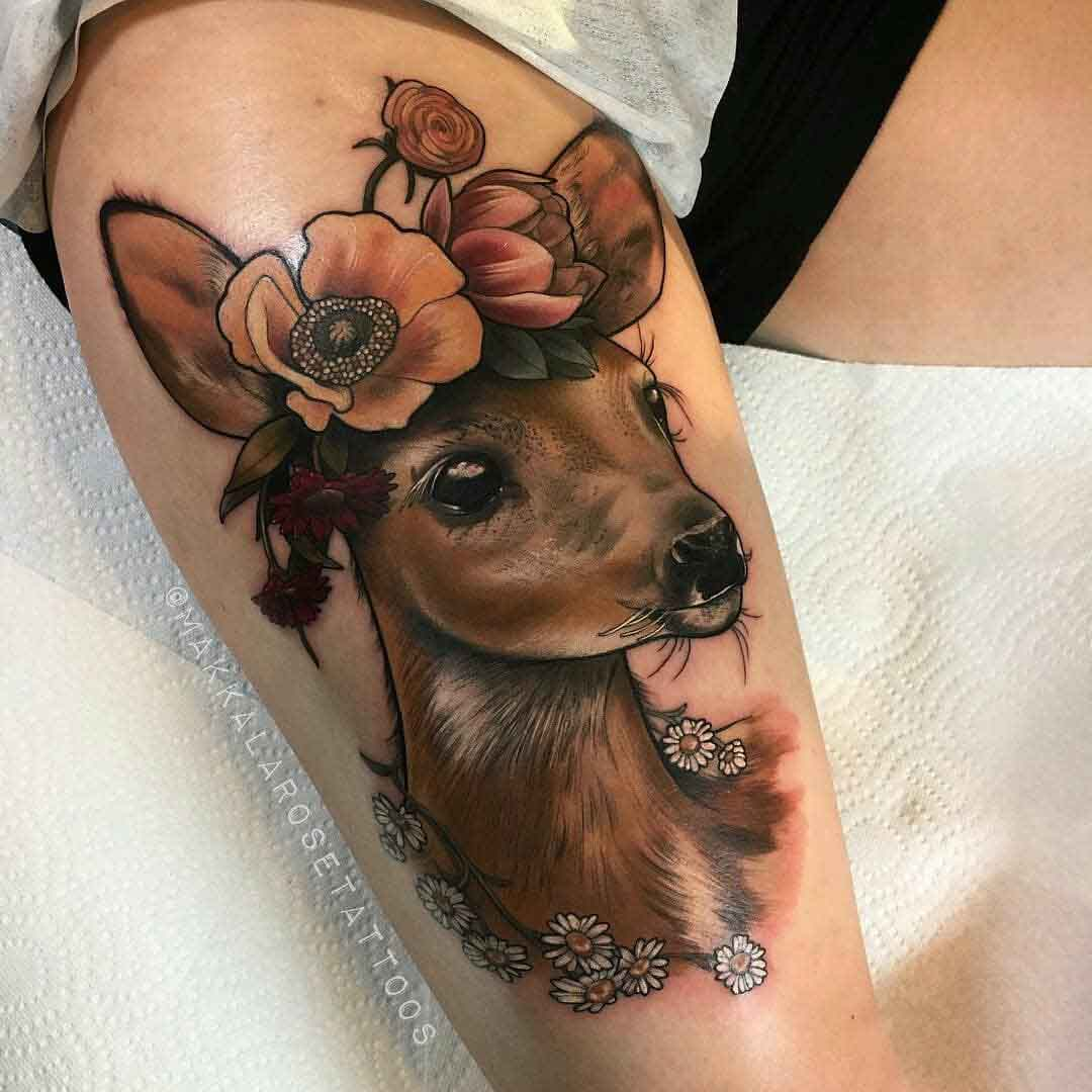 hip tattoo dear