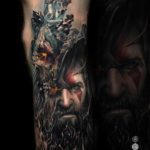 God of War Tattoo Realistic