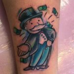 Monopoly Man Tattoo
