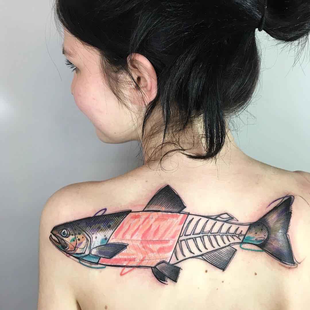 fish tattoo salmon