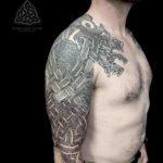 Saxon Tattoo Sleeve on Shoulder