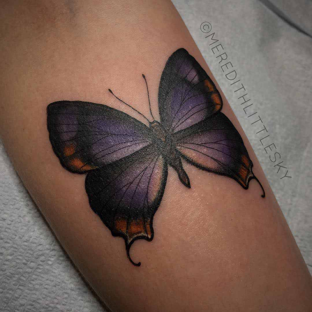 butterfly tattoo on arm
