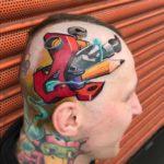Artist Tattoo on Head