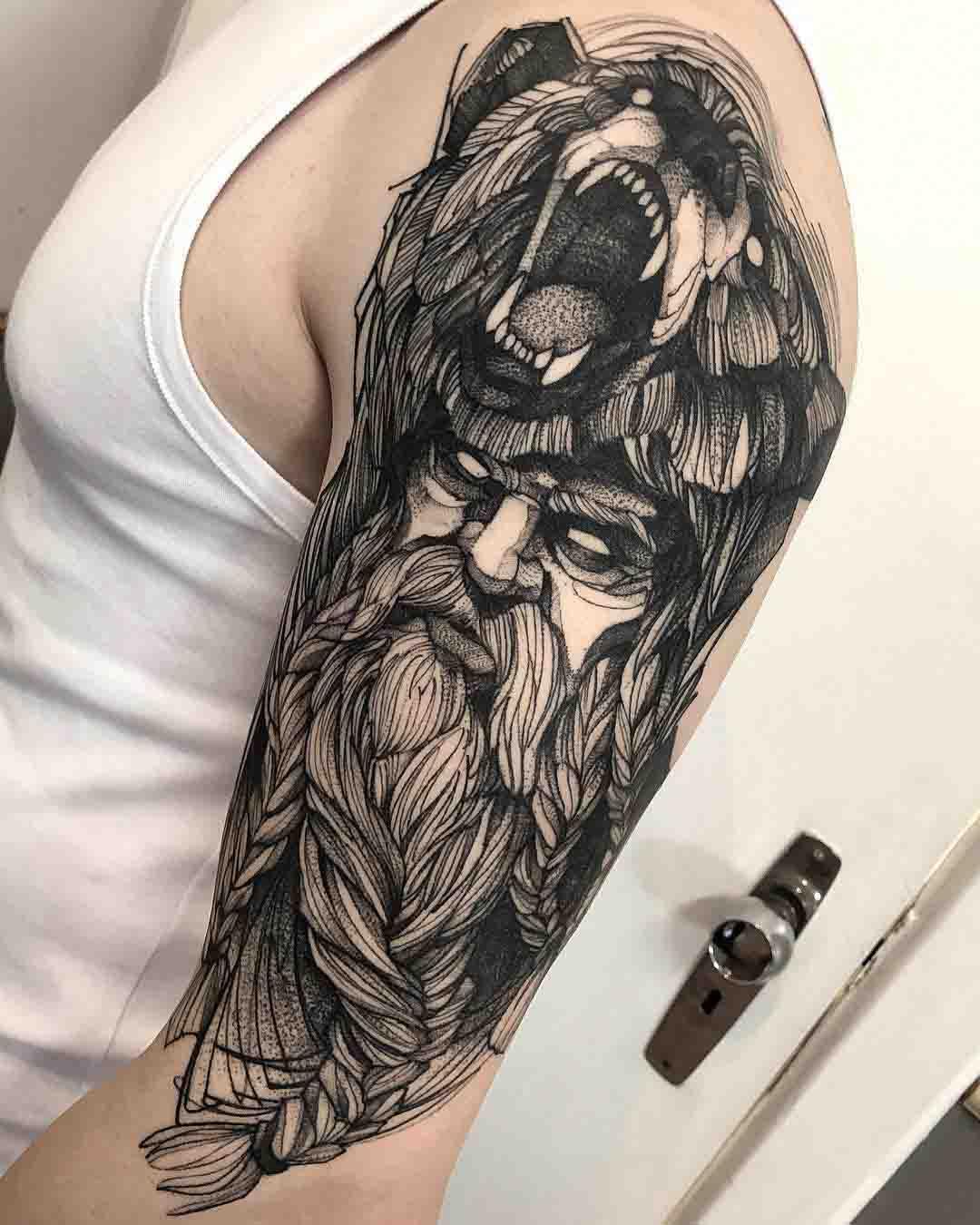 shoulder tattoo berserker