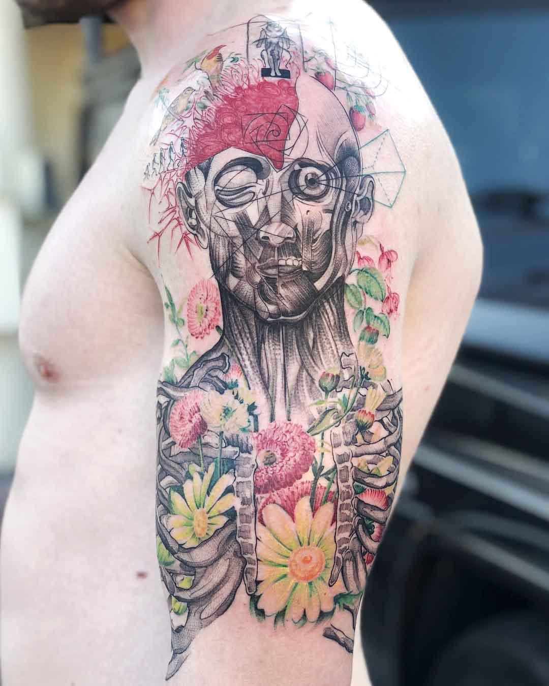 shoulder tattoo human body