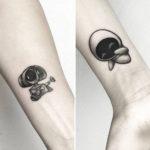 Wall-E and Eva Tattoos