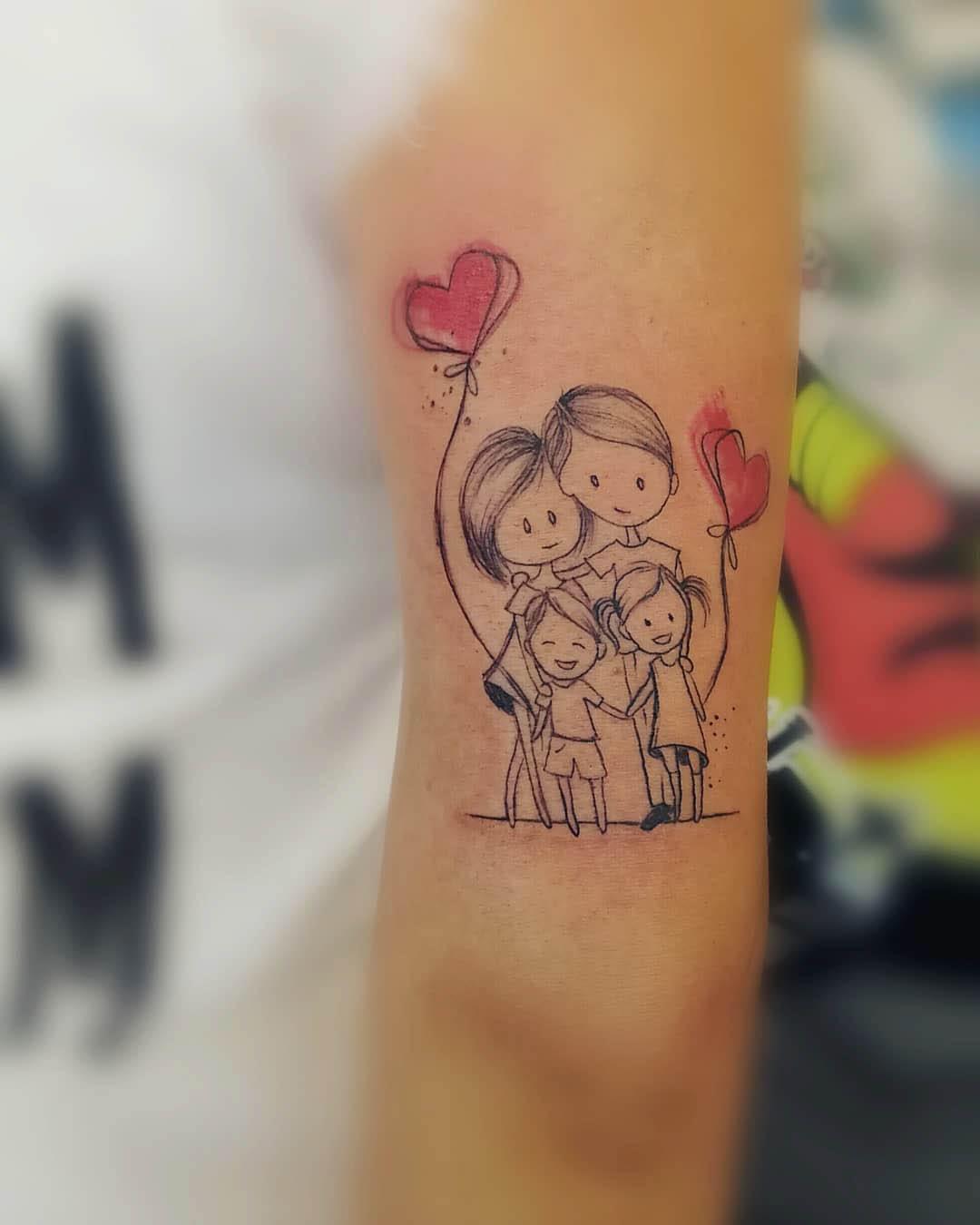 arm tattoo family