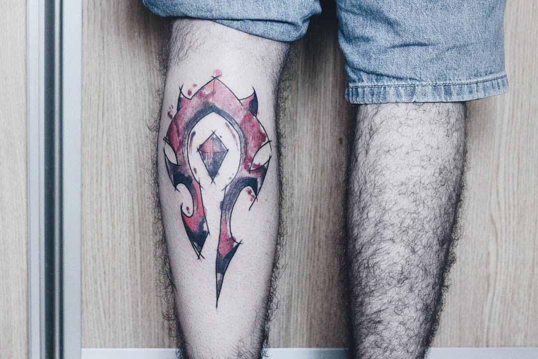 calf tattoo world of warcraft