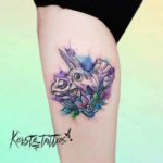 Watercolor Tattoo Triceratops