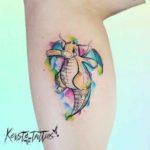Cute Dragon Tattoo Watercolor