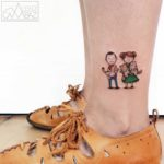 Happy Family Tattoo on Ankle