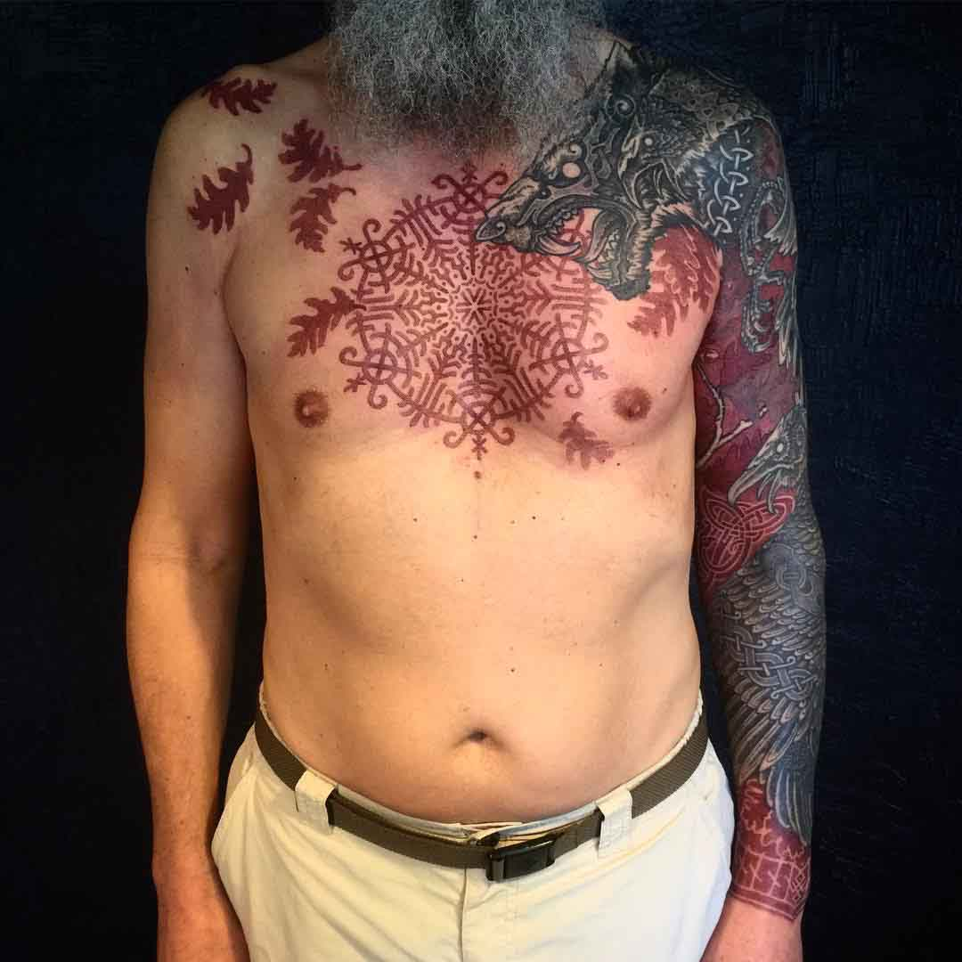 scandinavian chest tattoo