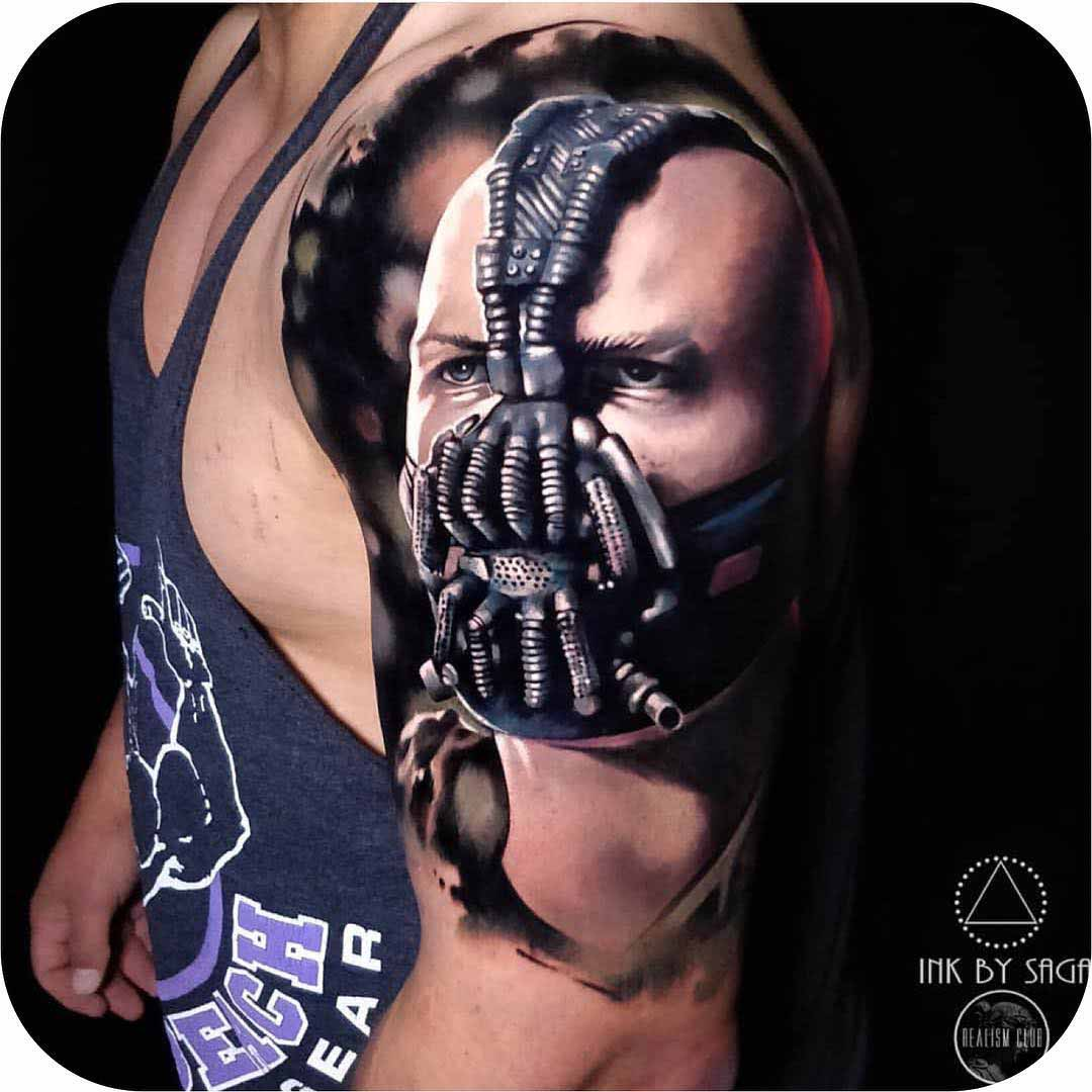 shoulder tattoo Bane Drak Knight